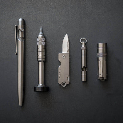 K&MT - Scout Leather Co. Hex Bit Driver - Titanium (Limited Edition)