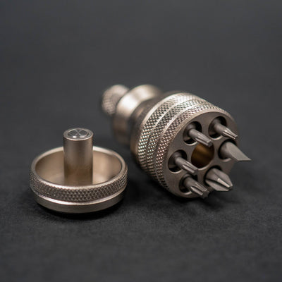 Scout Leather Co. Stubby Hex Bit Driver - Aluminum