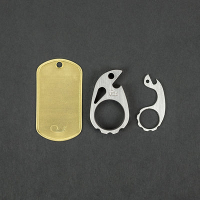 Keychains & Multi-Tools - VoxDesign Complete Keyring - Tiny Ping, Mini Snailor, & Brass Dog Tag (Custom)