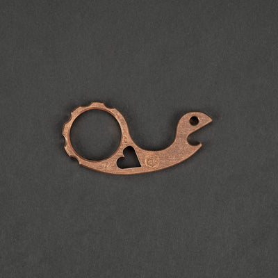 "Keychains & Multi-Tools - VoxDesign Heartless Snailor - 1/4"" Copper (Custom)"