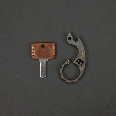 "Keychains & Multi-Tools - VoxDesign King Pimp Snailor - 3/8"" Patina'd Brass (Custom)"