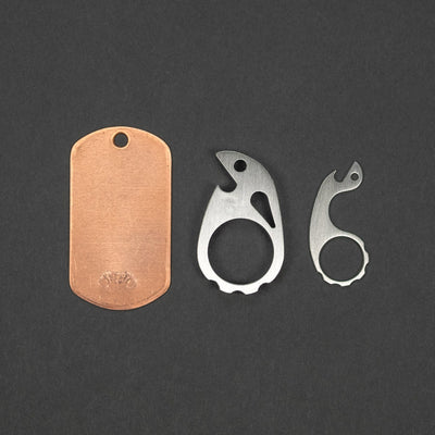 Keychains & Multi-Tools - VoxDesigns Complete Keyring - Tiny Ping, Mini Snailor, & Copper Dog Tag (Custom)