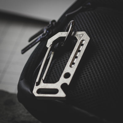 Keychains & Multi-Tools - Zach Wood Carabiner Version 2.0 - Titanium