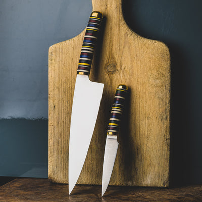 Kitchen - Florentine Kitchen Knives F4 Chef Knife - Stacked Micarta (Custom)