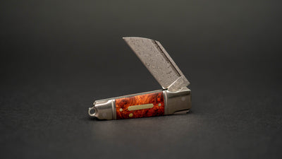 Knife - Andre De Villiers Mini Butcher - Red Maple Burl / Damascus