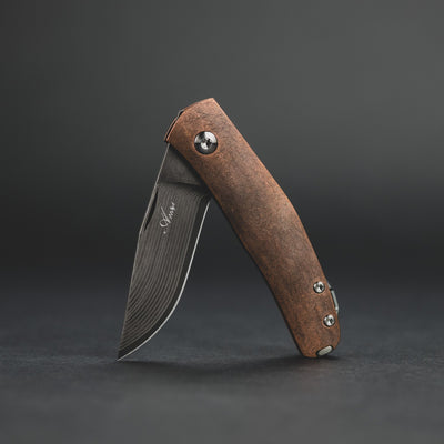 Knife - Anso Casino - Copper & Damascus (Custom)