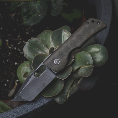 Knife - Billy Cho Mini 56 V2 - Green Canvas Micarta (Custom)
