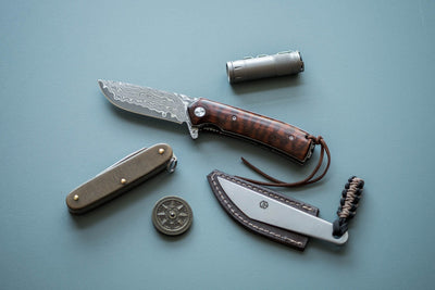 Knife - BucknBear Snakewood Linerlock Flipper Knife