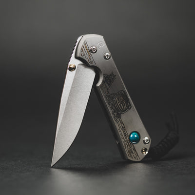 Knife - Chris Reeve Knives Small Sebenza 21 Drop Point CGG Lunar Landing