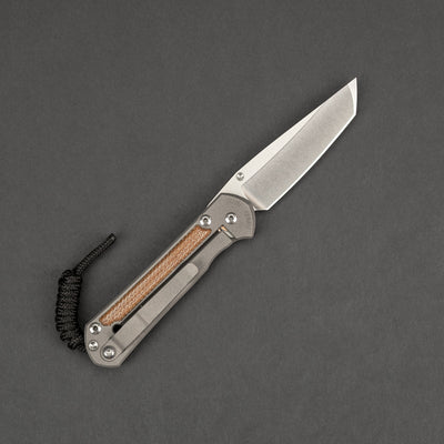 Knife - Chris Reeve Knives Small Sebenza 21 Tanto - Natural Micarta