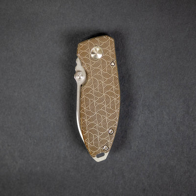 Knife - CRKT Squid With WKRMN Seigaiha Motif (Exclusive)