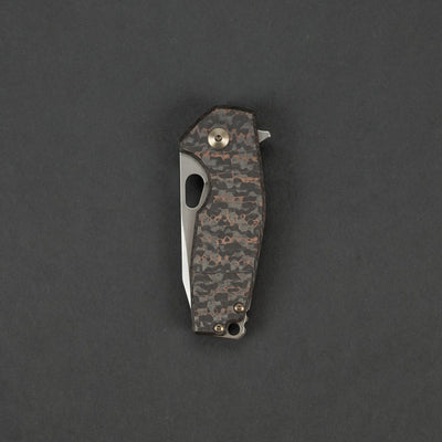 Knife - Fox Knives Vox Suru - Copper Shred Carbon Fiber W/ Ti Framelock, Stonewashed Blade (Exclusive)