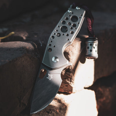 Knife - Fox Knives Vox Suru - Sandblasted Titanium & Combat Beads Combo (Exclusive)