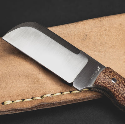 Knife - Jeffery Mitchell Mini Cleaver - Brown Micarta (Custom)