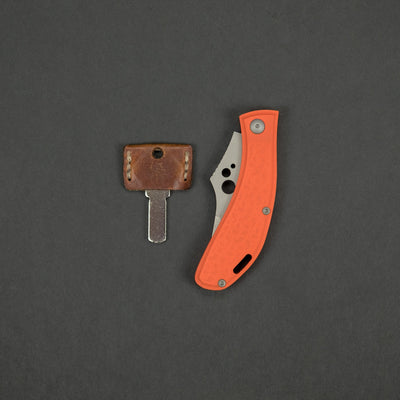 Knife - Koch Tools Rekluse Slipjoint - Orange G10 (Custom)
