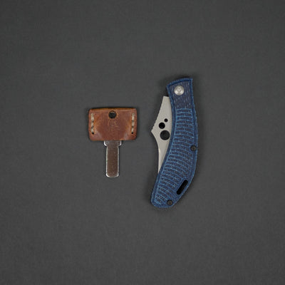 Knife - Koch Tools Slipjoint - Blue Twill Carbon Fiber
