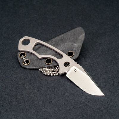 Knife - Krein Knives Cicada - D2 W/ Kydex Sheath (Custom)