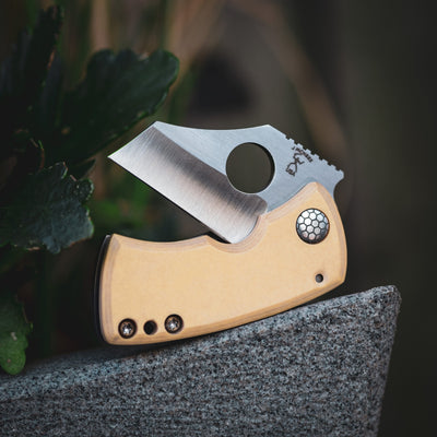 Knife - McNees Killer Bee - Bone Micarta (Custom)