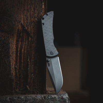Knife - McNees MAC2 - Titanium W/ Seigaiha Motif (Exclusive)