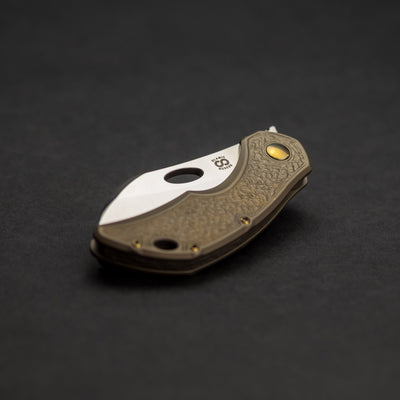 Knife - Olamic Busker - Largo Satin / Bronze Basaltic (Exclusive)