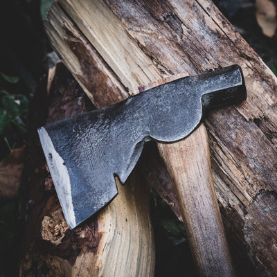 "Knife - Pre-Order: Yellowood Design X Urban EDC Supply 14"" Half Hatchet - Ombre Hickory (Pre-order Ends 8/1 And Ships Mid September)"