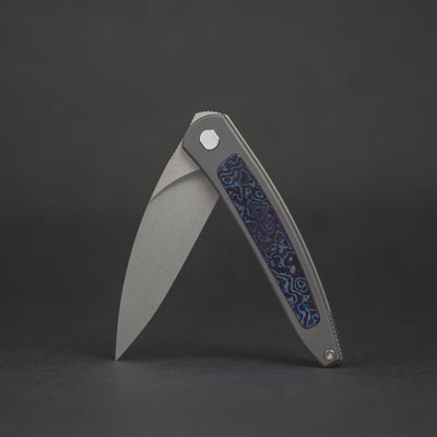 Knife - Pre-Owned: Brown Knives Exponent #82 - Zirconium & White Timascus (Custom)