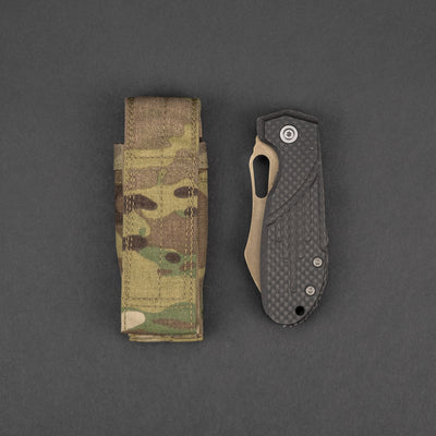 Knife - Pre-Owned: Horton/Stout Possum - LVA Carbon Fiber & Zircuti (Custom)