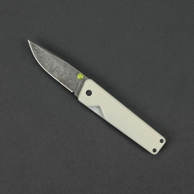 Knife - Pre-Owned: James Brand Chapter - White G10 & Damascus
