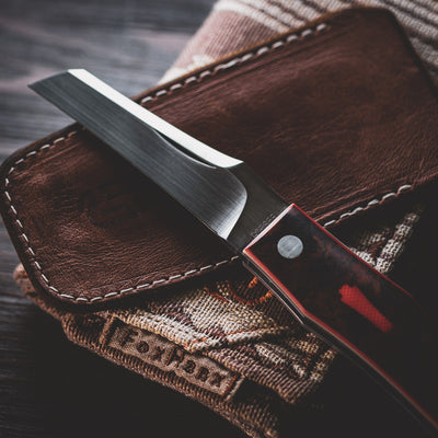 Knife - Pre-Owned: Jared Oeser COATL - Rag Micarta (Custom)