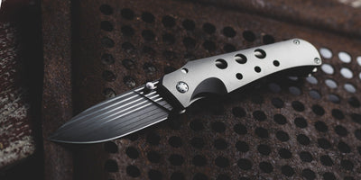 Knife - Pre-Owned: Jason Guthrie Scout - Titanium & Chad Nichols Bacon Damascus (Custom)