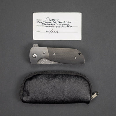 Knife - Pre-Owned: JRP Osprey - Blackwood Carbon Fiber W/ Zirconium Bolster (Custom)