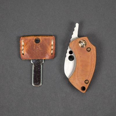 Knife - Pre-Owned: Koch Tools Gnat Friction Folder - Natural Micarta