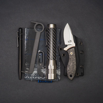 Knife - Pre-Owned: Krein Knives Hydra - Carbon Fiber (Custom)