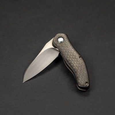 Knife - Pre-Owned: McGinnis Prawn - Copper Lightning Strike Carbon Fiber & Titanium (Custom)