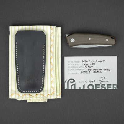 Knife - Pre-Owned: Oeser Mantis Flipjoint - Micarta (Custom)