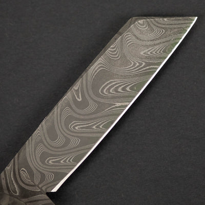 Knife - Pre-Owned: Pepe Jalomo Barlow - Carbon Fiber W/ Gibeon Meteorite Shield & Chad Nichols Damascus (Custom)