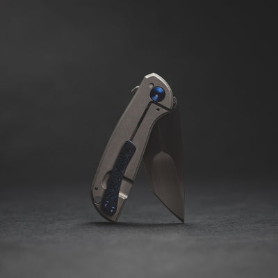 Knife - Pre-Owned: Simeon Customs Mini Squatch - Titanium (Custom)