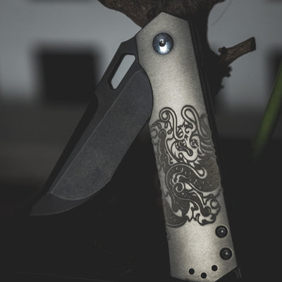 Knife - Pre-Owned: Steel Flame Hagakure Dragon - Titanium