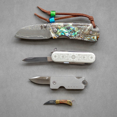 Knife - Quiet Carry Bandit Titanium Keychain Knife