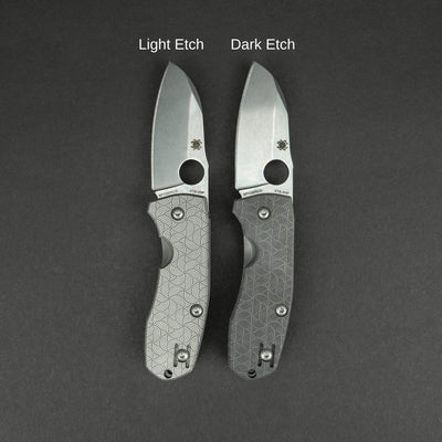 Knife - Spyderco Techno 2 With WKRMN Seigaiha Motif - Titanium (Exclusive)