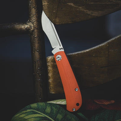 Knife - Swan Knives Mini Recurve Slipjoint - Orange G10 (Custom)