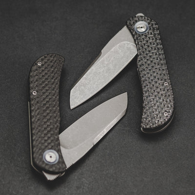 Knife - Trevor Burger EXK CFL - Sheepsfoot Carbon Fiber (Custom)