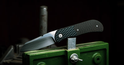 Knife - Trevor Burger EXK Plus Sheepsfoot - Carbon Fiber (Custom)