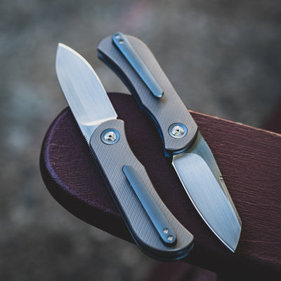 Knife - Trevor Burger EXK Plus - Titanium (Custom)