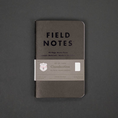 Notebook - Field Notes - Clandestine (Limited Edition) - 3 Pack