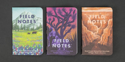 Notebook - Field Notes - National Parks (Limited Edition) - 3 Pack