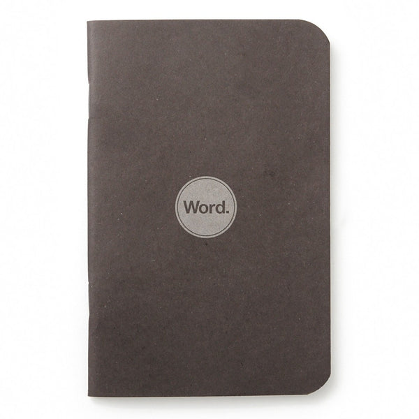Notebook - Word. Notebooks (Black) - 3 Pack