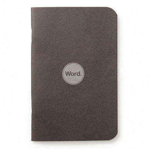 Word. Notebooks (Black) - 3 Pack