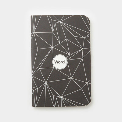 Notebook - Word. Notebooks (Black Polygon) - 3 Pack