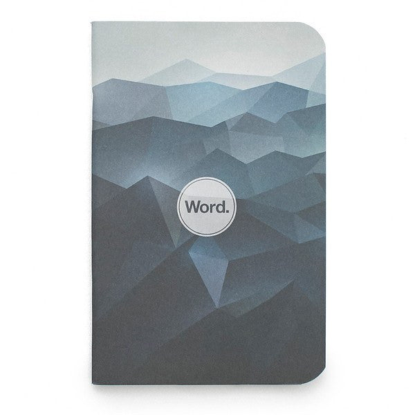 Notebook - Word. Notebooks (Blue Mountain) - 3 Pack